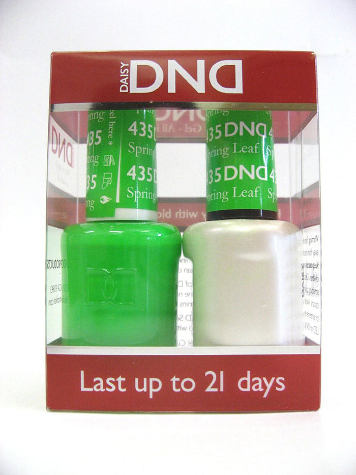 DND - Soak Off Gel Polish & Matching Nail Lacquer Set - #435 SPRING LEAF