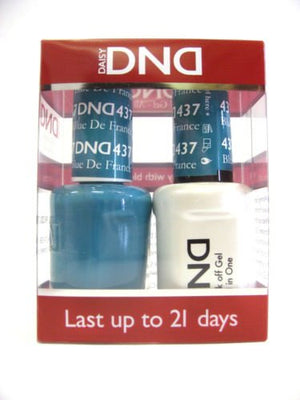 DND - Soak Off Gel Polish & Matching Nail Lacquer Set - #437 BLUE DE FRANCE