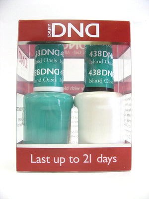 DND - Soak Off Gel Polish & Matching Nail Lacquer Set - #438 ISLAND OASIS