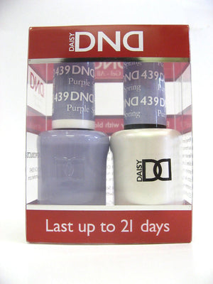 DND - Soak Off Gel Polish & Matching Nail Lacquer Set - #439 PURPLE SPRING