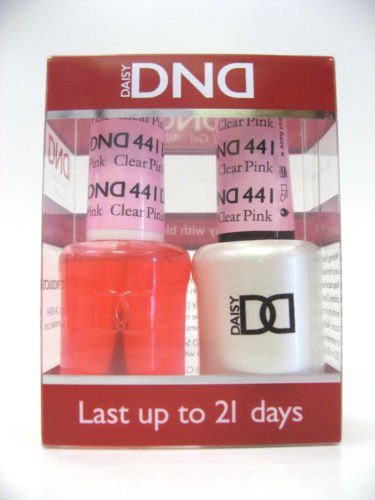 DND - Soak Off Gel Polish & Matching Nail Lacquer Set - #441 Clear Pink