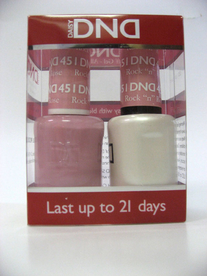 "DND - Soak Off Gel Polish & Matching Nail Lacquer Set - #451 ROCK ""N"" ROSE"