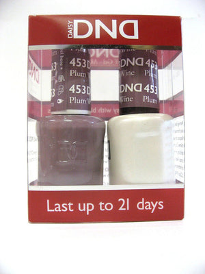 DND - Soak Off Gel Polish & Matching Nail Lacquer Set - #453 PLUM WINE