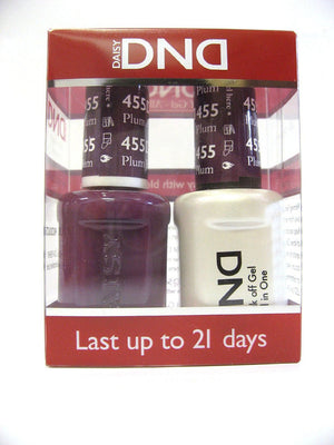 DND - Soak Off Gel Polish & Matching Nail Lacquer Set - #455 PLUM PASSION