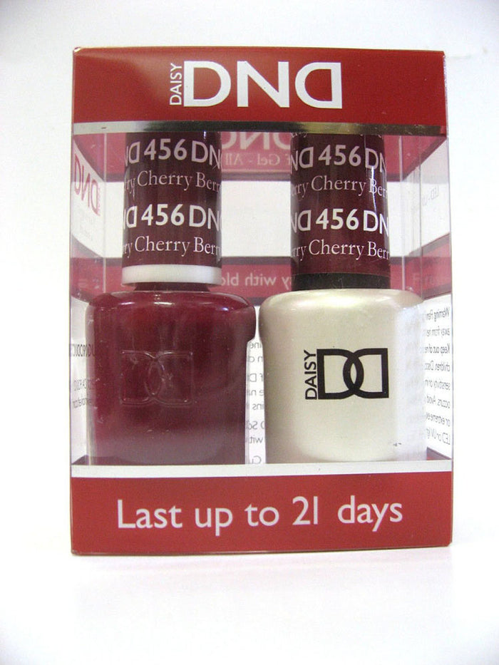 DND - Soak Off Gel Polish & Matching Nail Lacquer Set - #456 CHERRY BERRY