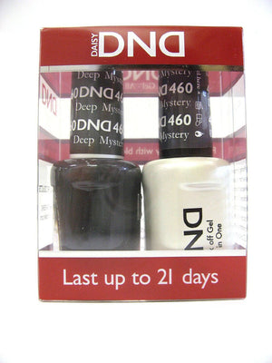 DND - Soak Off Gel Polish & Matching Nail Lacquer Set - #460 DEEP MYSTERY