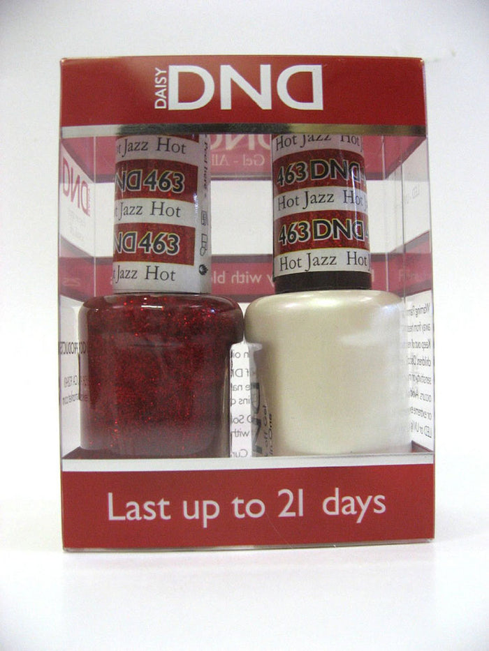 DND - Soak Off Gel Polish & Matching Nail Lacquer Set - #463 Hot Jazz