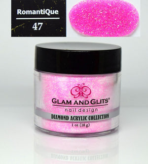 Glam & Glits - DIAMOND Acrylic Powder 1 oz - DAC47 ROMANTIQUE