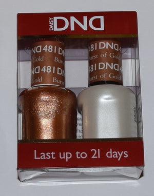 DND - Soak Off Gel Polish & Matching Nail Lacquer Set - #481 BURST OF GOLD
