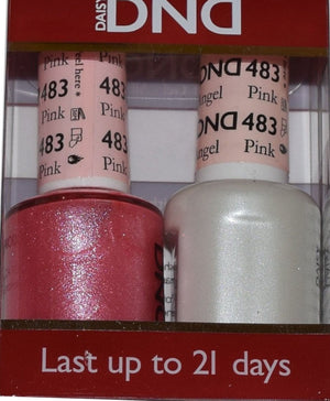 DND - Soak Off Gel Polish & Matching Nail Lacquer Set - #483 PINK ANGEL