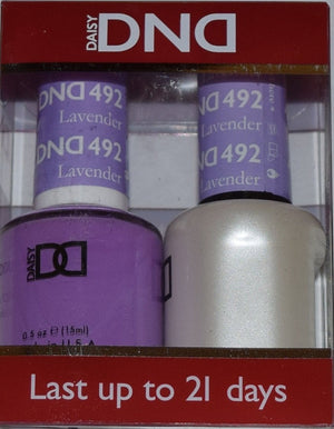 DND - Soak Off Gel Polish & Matching Nail Lacquer Set - #492 LAVENDER PROPHET