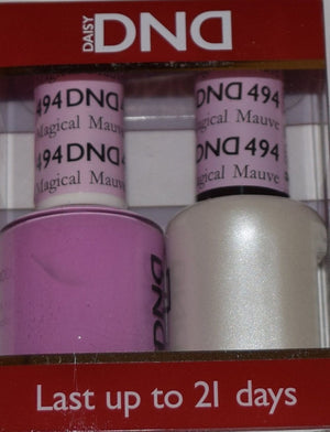 DND - Soak Off Gel Polish & Matching Nail Lacquer Set - #494 MAGICAL MAUVE