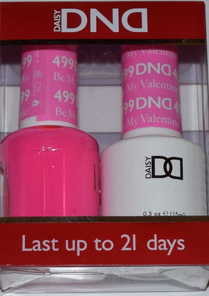 DND - Soak Off Gel Polish & Matching Nail Lacquer Set - #499 BE MY VALENTINE