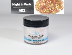 Glam & Glits - Fantasy Acrylic Powder 1 oz - FAC502 NIGHT IN PARIS