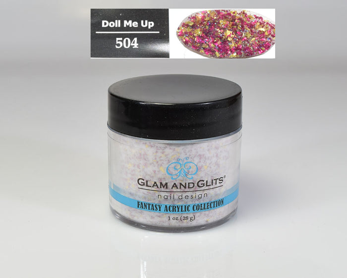 Glam & Glits - Fantasy Acrylic Powder 1 oz - FAC504 DOLL ME UP
