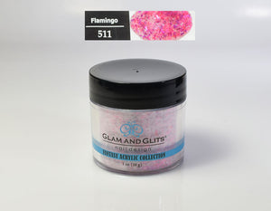 Glam & Glits - Fantasy Acrylic Powder 1 oz - FAC511 FLAMINGO