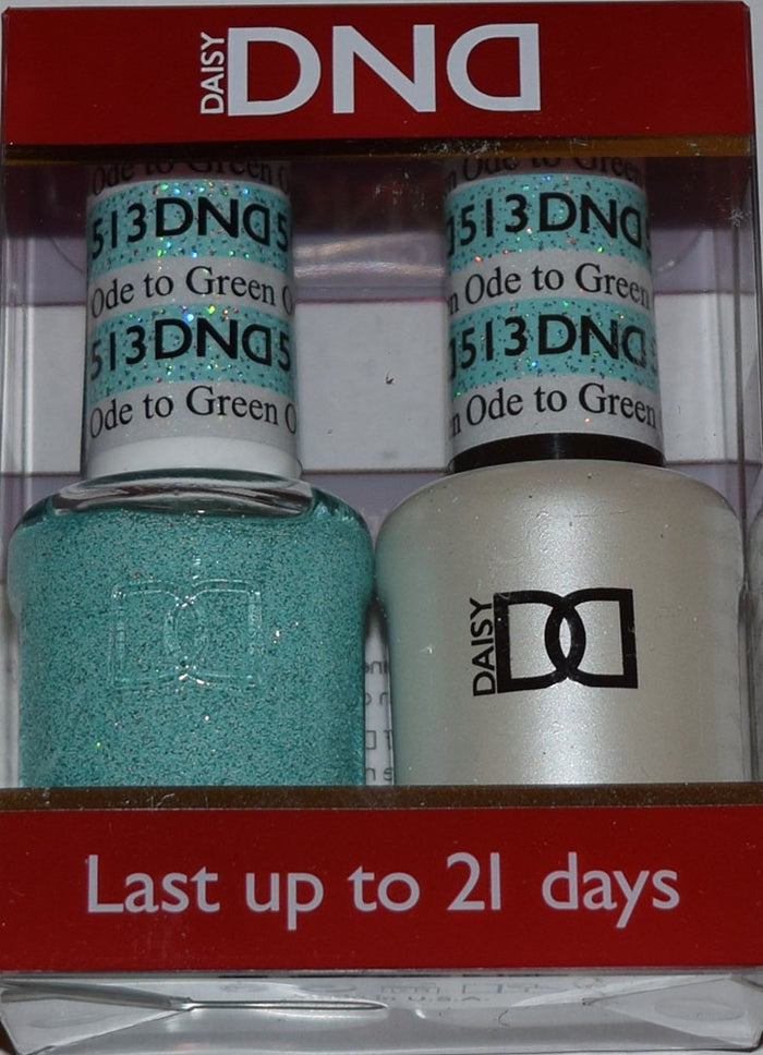 DND - Soak Off Gel Polish & Matching Nail Lacquer Set - #513 ODE TO GREEN