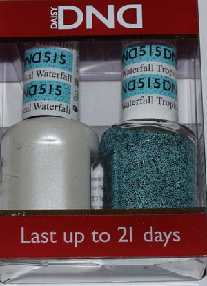DND - Soak Off Gel Polish & Matching Nail Lacquer Set - #515 TROPICAL WATERFALL