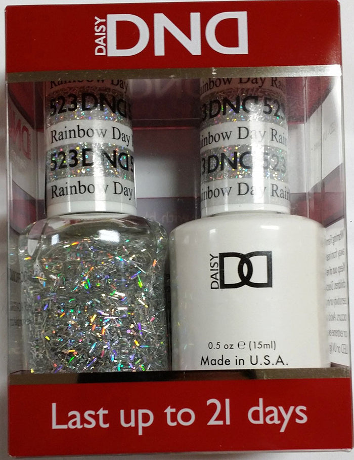 DND - Soak Off Gel Polish & Matching Nail Lacquer Set - #523 RAINBOW DAY