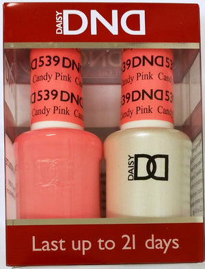 DND - Soak Off Gel Polish & Matching Nail Lacquer Set - #539 CANDY PINK
