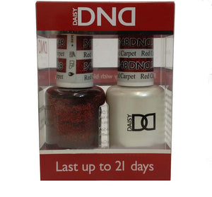 DND - Soak Off Gel Polish & Matching Nail Lacquer Set - #548 RED CARPET