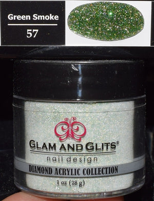 Glam & Glits - DIAMOND Acrylic Powder 1 oz - DAC57 GREEN SMOKE