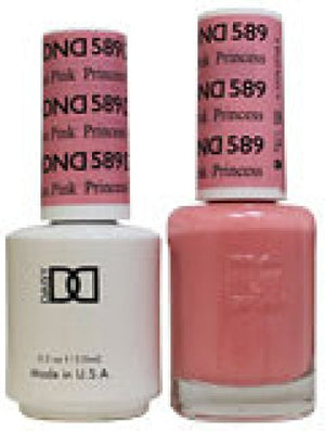 DND - Soak Off Gel Polish & Matching Nail Lacquer Set - #589 Princess Pink