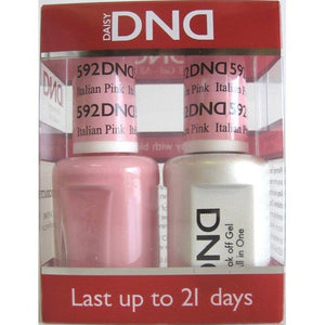 DND - Soak Off Gel Polish & Matching Nail Lacquer Set - #592 Italian Pink
