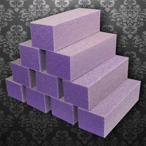 Dixon Buffer Block Purple White Grit 3 Way 100/180 (pack of 10)