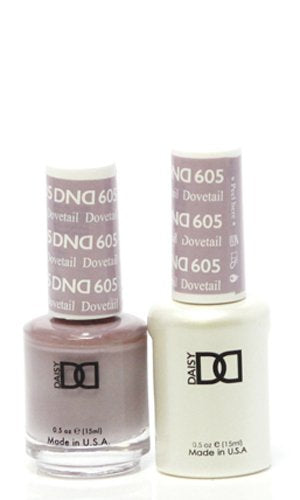 DND - Soak Off Gel Polish & Matching Nail Lacquer Set - #605 Dovetail