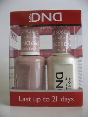 DND - Soak Off Gel Polish & Matching Nail Lacquer Set - #606 London Coach