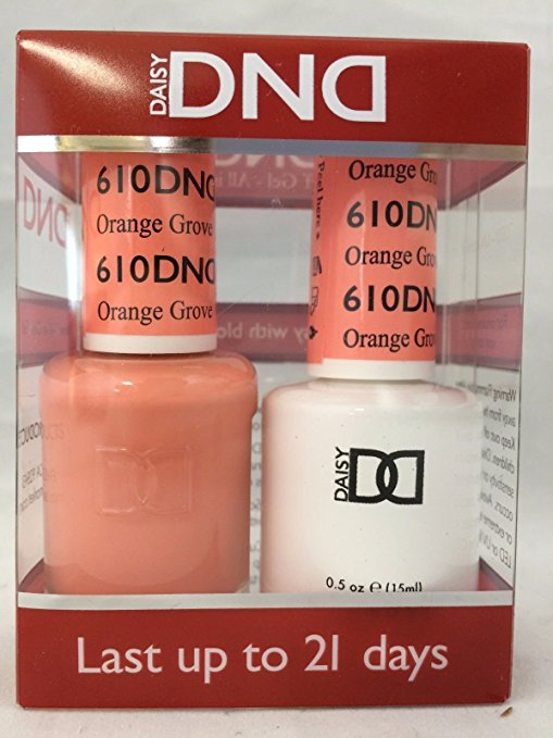 DND - Soak Off Gel Polish & Matching Nail Lacquer Set - #610 Orange Grove