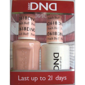 DND - Soak Off Gel Polish & Matching Nail Lacquer Set - #618 Peach Buff