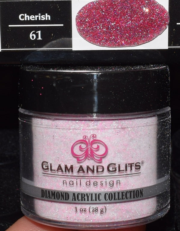 Glam & Glits - DIAMOND Acrylic Powder 1 oz - DAC61 CHERISH