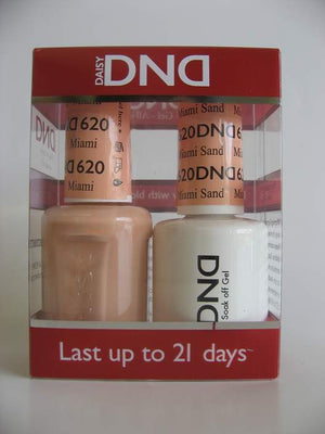 DND - Soak Off Gel Polish & Matching Nail Lacquer Set - #620 Miami Sand