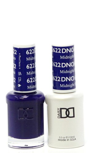 DND - Soak Off Gel Polish & Matching Nail Lacquer Set - #622 Midnight Blue