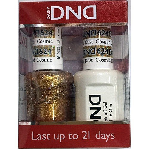 DND - Soak Off Gel Polish & Matching Nail Lacquer Set - #624 Cosmic Dust