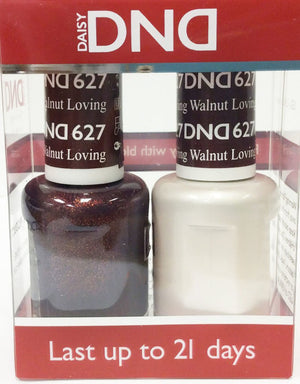 DND - Soak Off Gel Polish & Matching Nail Lacquer Set - #627 Loving Walnut