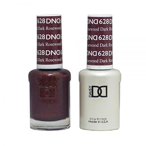 DND - Soak Off Gel Polish & Matching Nail Lacquer Set - #628 Dark Rosewood