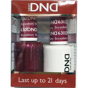 DND - Soak Off Gel Polish & Matching Nail Lacquer Set - #631 Fuchsia in Beauty