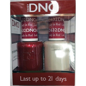 DND - Soak Off Gel Polish & Matching Nail Lacquer Set - #632 Lady in Red