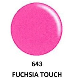 DND - Soak Off Gel Polish & Matching Nail Lacquer Set - #643 FUCHSIA TOUCH