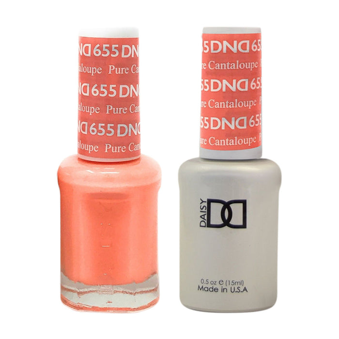 DND - Soak Off Gel Polish & Matching Nail Lacquer Set - #655 PURE CATALOUPE