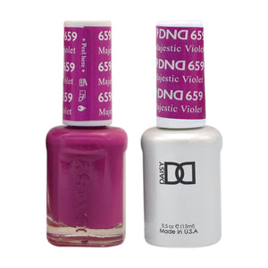 DND - Soak Off Gel Polish & Matching Nail Lacquer Set - #659 Majestic Violet