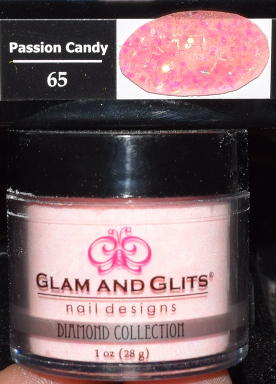 Glam & Glits - DIAMOND Acrylic Powder 1 oz - DAC65 PASSION CANDY