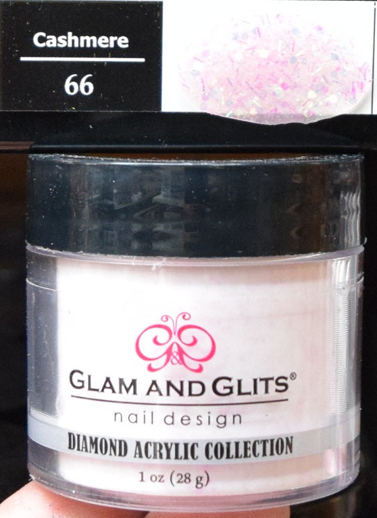 Glam & Glits - DIAMOND Acrylic Powder 1 oz - DAC66 CASHMERE