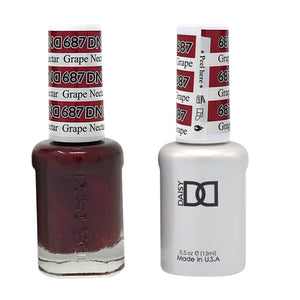 DND - Soak Off Gel Polish & Matching Nail Lacquer Set - #687 GRAPE NECTAR