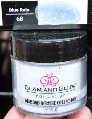 Glam & Glits - DIAMOND Acrylic Powder 1 oz - DAC68 BLUE RAIN