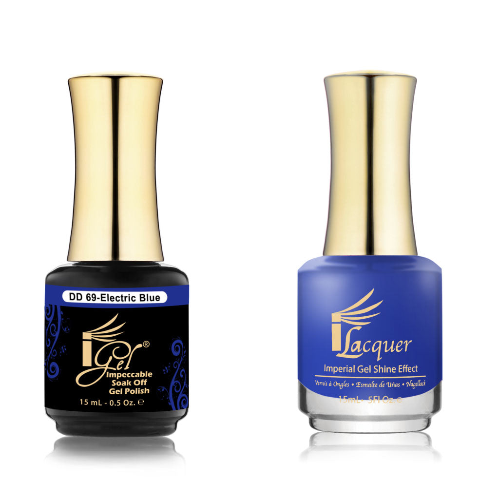 IGel Nail lacquer and gel polish matching - 069 ELECTRIC BLUE