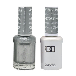 DND - Soak Off Gel Polish & Matching Nail Lacquer Set - #705 SILVER DREAMER